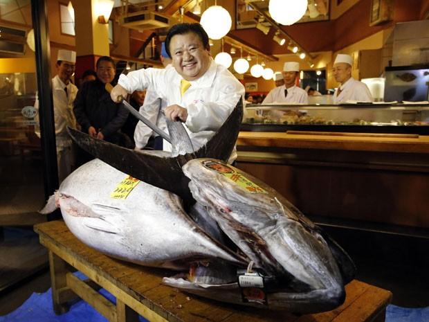 Atum vendido por R$ 3,3 milhões no Japão; valor comercial do peixe dificulta a proteção da espécie.(Foto: REUTERS)
