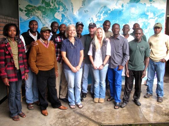 Gorilla Doctors staff at the regional headquarters in Musanze, Rwanda.