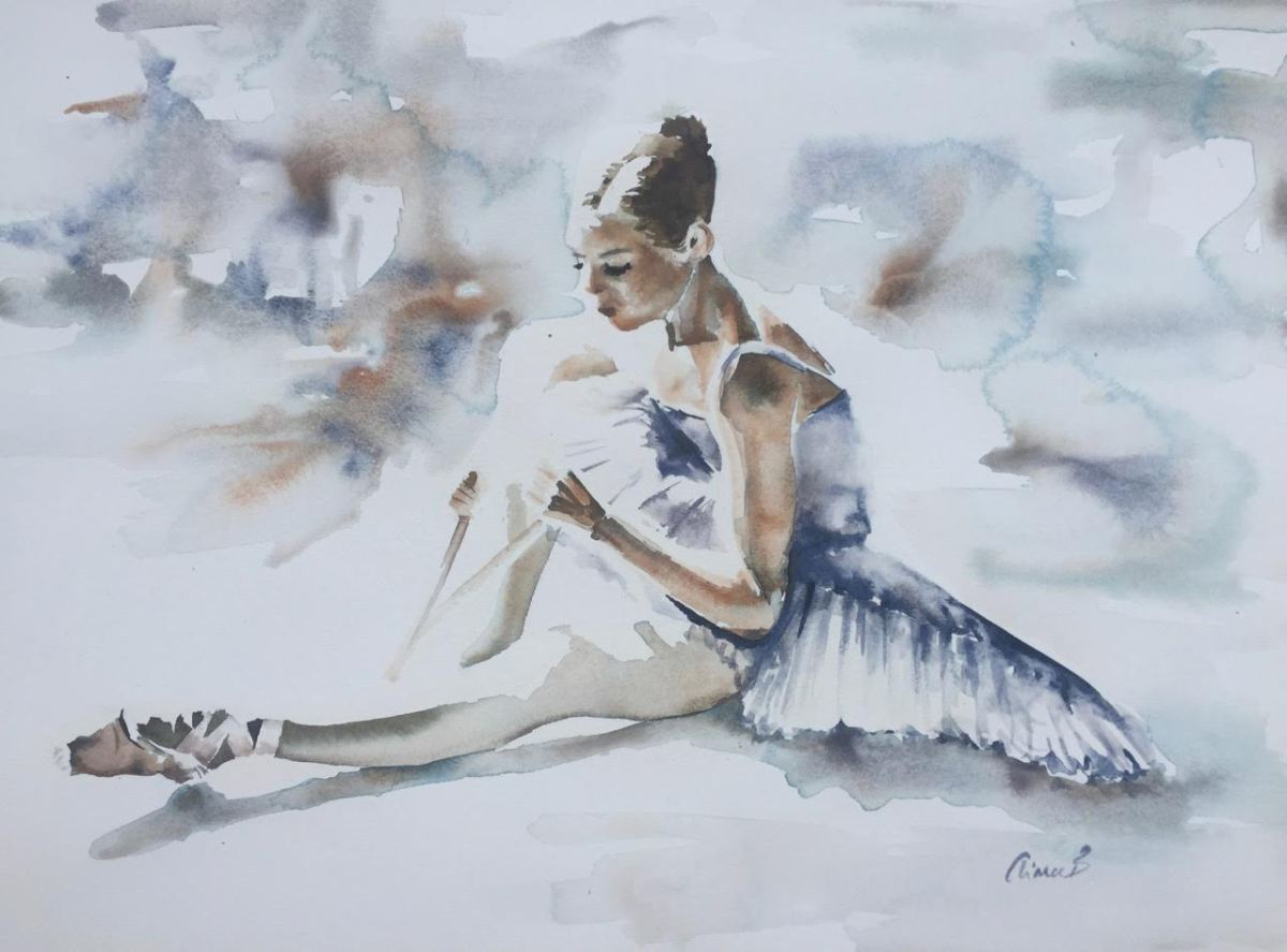 Ballerina Dreams - Watercolour Poetry by Aimee Del Valle @aimeeDVart