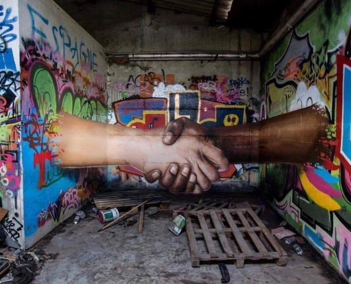 Easy #World, #Love & #Respect - #Creative #StreetArt by Jeaze - be artist be art magazine