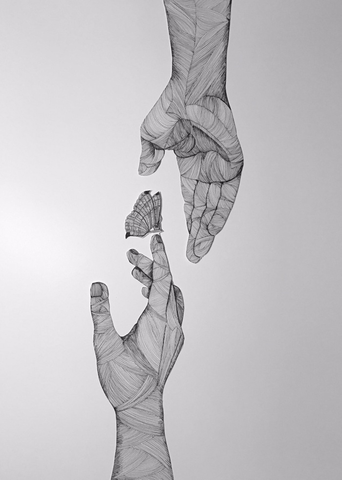 Give me your #hand and I'll hold #You - Smoth #Design by Katherine Filice - be artist be art magazine